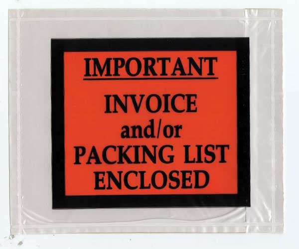 Packing Lists Envelopes : Combo 4 1/2